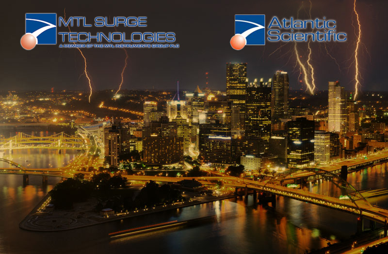 Surge Protection Devices, MTL surge technologies, Atlantic Scientific, Pittsburg Lightning Storm